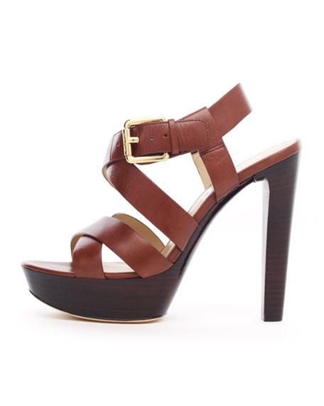 Belle Platform Sandal, Mocha