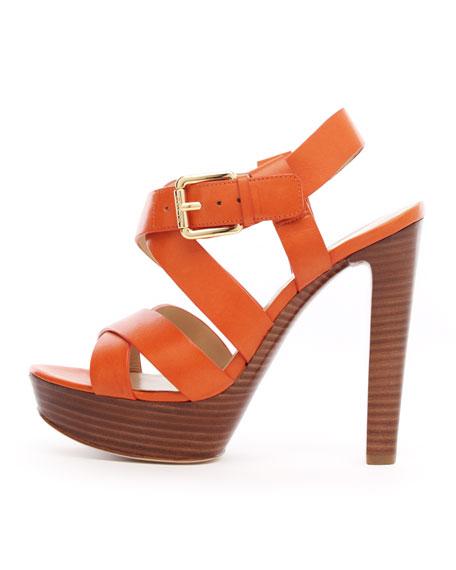 Belle Platform Sandal, Tangerine