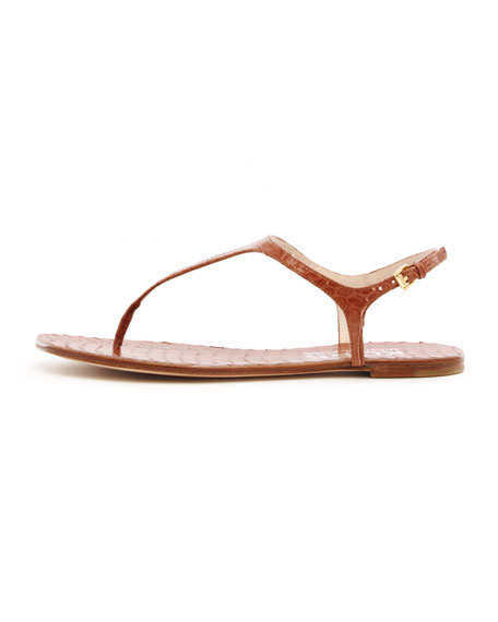 Joni Snake-Print Thong Sandal