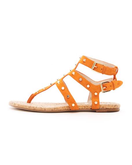 Jordyn Studded Suede Sandal