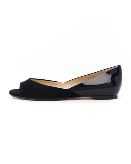 Tullah Suede/Patent Leather Flat