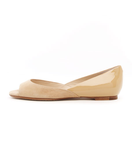 Tullah Suede/ Patent Leather Flat