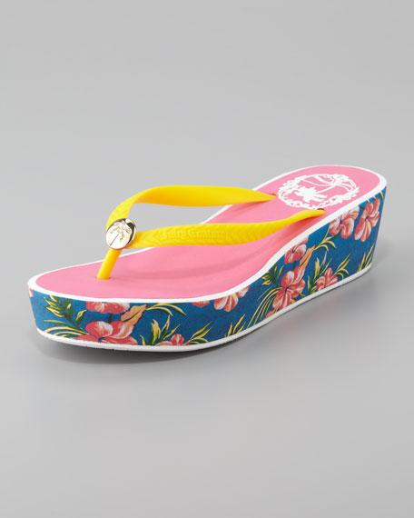 Isabelle Rubber Wedge Flip Flop