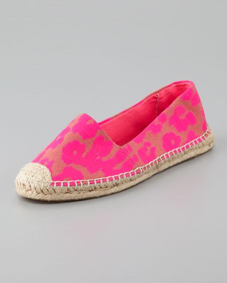 Gigi Cheetah Flat Espadrille, Pink