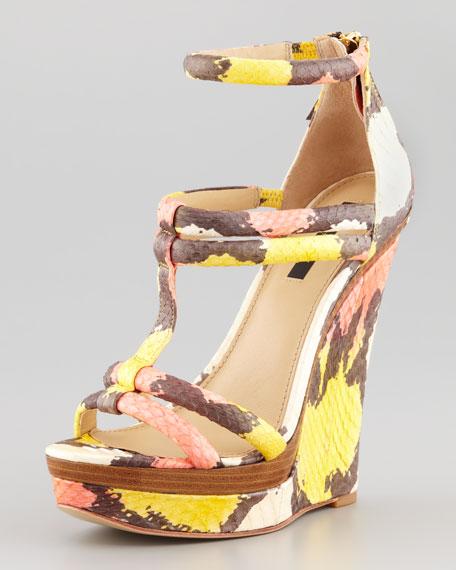 Katia Snakeskin Wedge Sandal