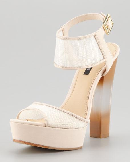 Lexi Raffia Platform Sandal