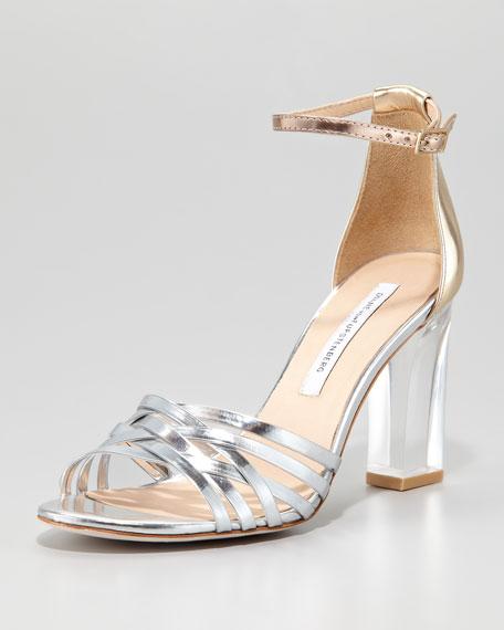 Priene Lucite-Heel Sandal