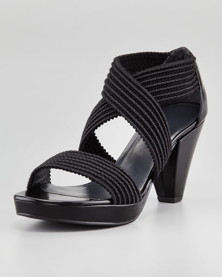 Overreact Ottoman Stretch Sandal, Black
