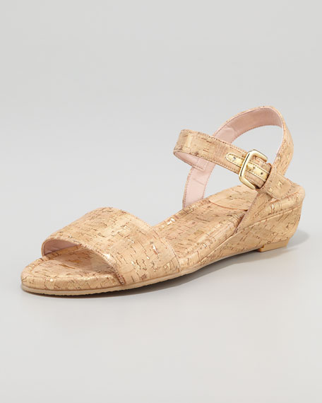 St. Barth Cork Micro-Wedge Sandal