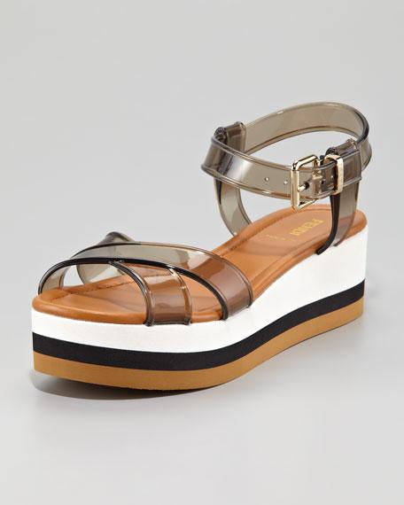 Jelly Flatform Sandal