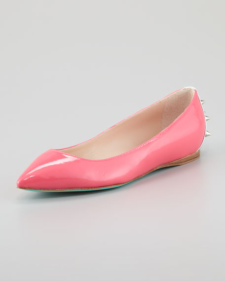 Boca Spiked Ballerina Flat, Strawberry