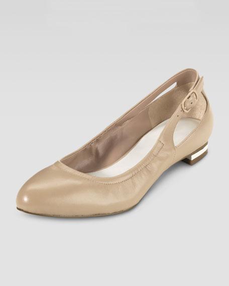 Palisade Almond Toe Ballerina Flat, Sandstone