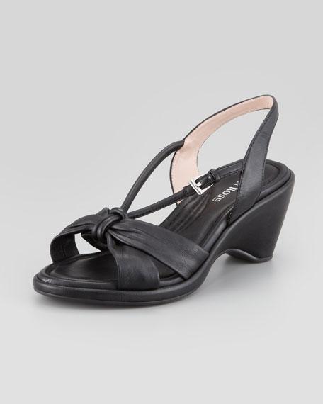 Margaux Napa Slingback Sandal, Black