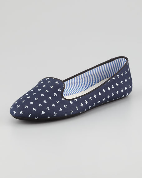 Tropez Anchor-Print Slip-On Loafer