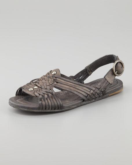 Jacey Huarache Slingback Sandal, Gray