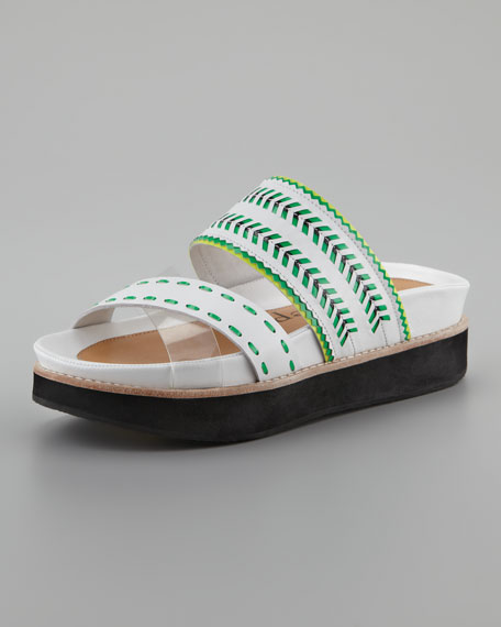 Chi Chi Runway Footbed Sandal, White