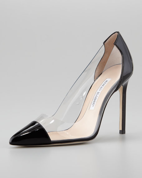 manolo blahnik pvc pumps