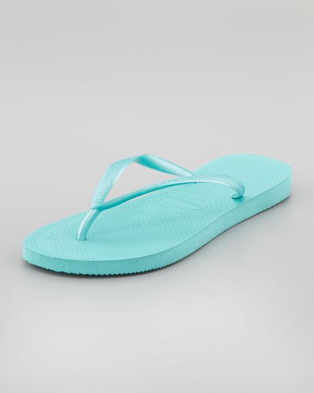 Slim Flip-Flop, Pool Green