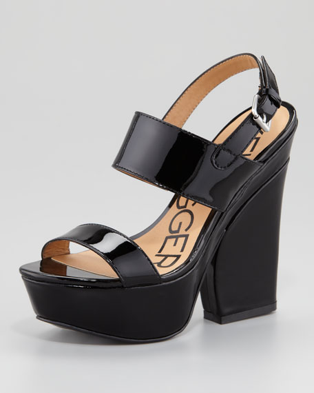Holly Patent Leather Wedge Sandal