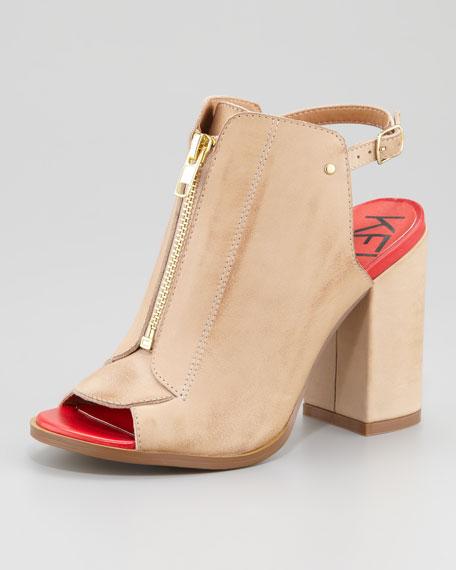 Giulia Zip-Front Sandal