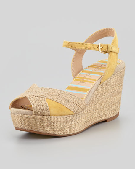 Granite Suede Wedge Sandal
