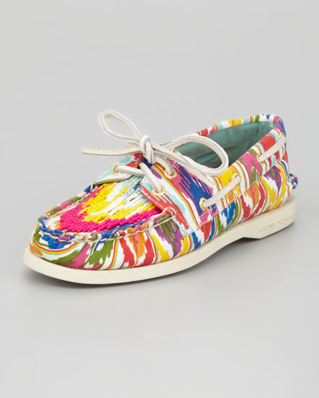 Beaded Ikat Slip-On