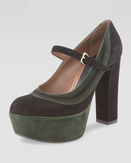 Suede Platform Mary Jane