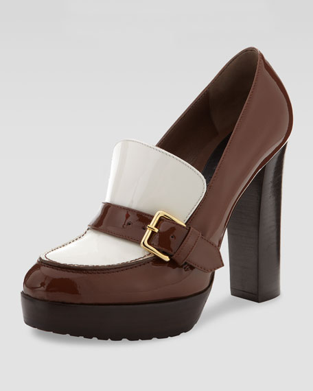 Buckle Strap Loafer Pump