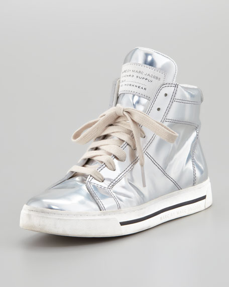 Runway Reflective Sneaker, Silver