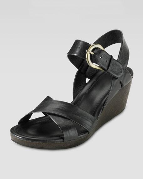 Air Tali Low Wedge Sandal, Black