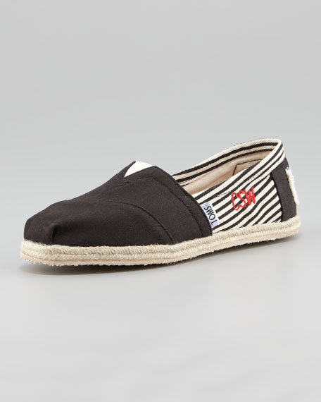 Personalized Classic University Slip-On, Black