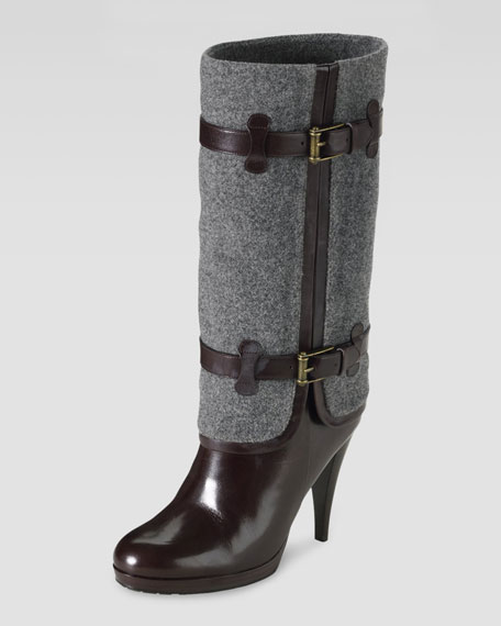 Air Kennedy Buckle Boot, Dark Chocolate