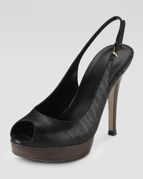 Mariela Air Open-Toe Slingback, Black