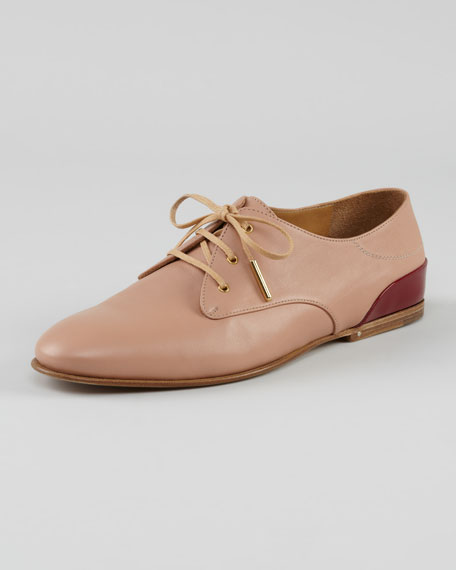 Lace-Up Oxford, Nude
