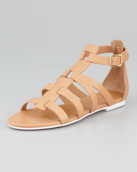 Groove T-Strap Flat Gladiator Sandal