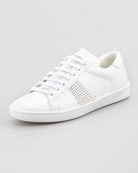Saint Laurent Studded Sneaker, White
