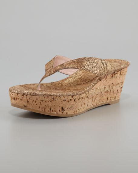 Wedge Sandal Clasp Cork Thong 3cl1TJFK
