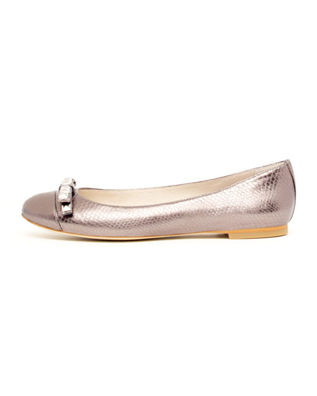 Livvy Stud-Toe Ballerina Flat