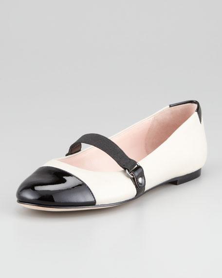 Cap-Toe Mary Jane Ballerina Flat