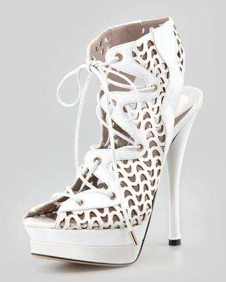 Lace-Up Platform Sandal