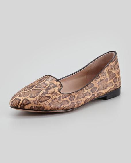 Vanity Snake-Print Cork Loafer