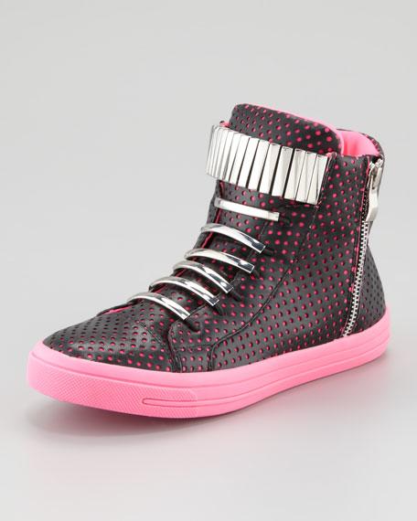Kiefer Sneaker, Black/Fuchsia