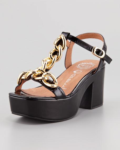 Yasmine Platform Sandal, Black