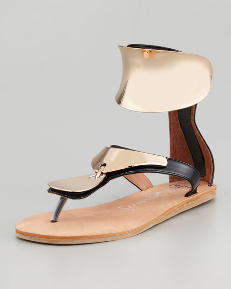 Congo Sandal, Black/Gold