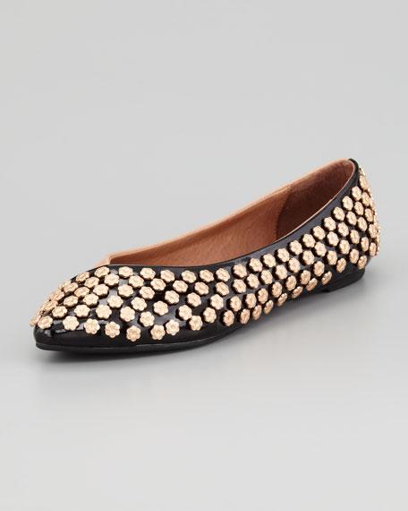 Daisy Studded Ballerina Flat