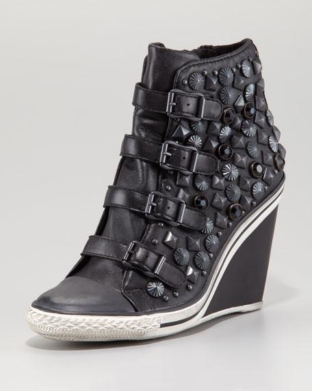 Studded Wedge Sneaker