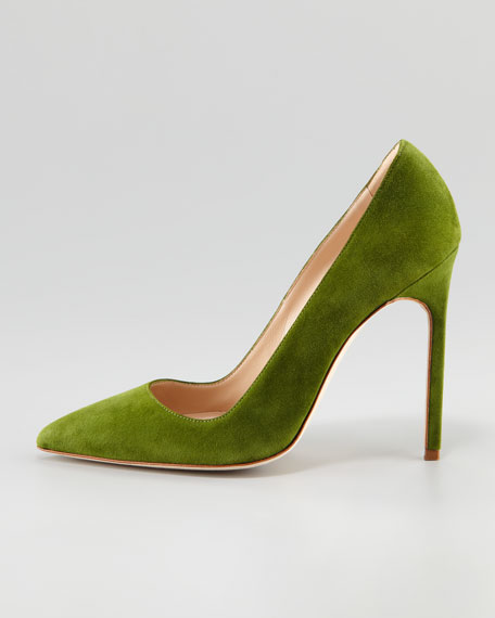 BB Suede Pump, Green