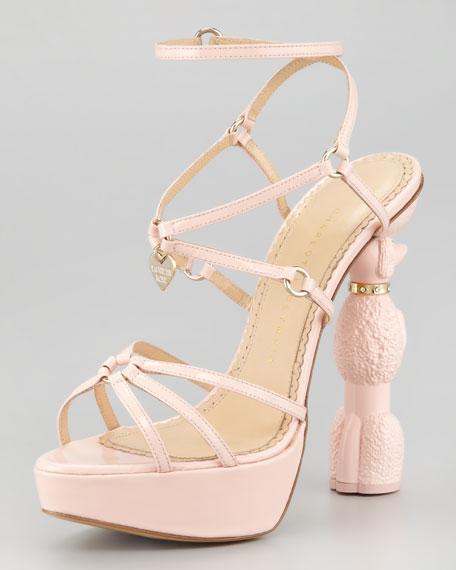 Poodle Heel Platform Sandal