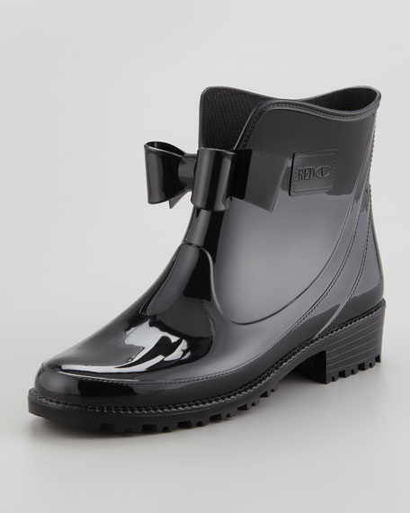 Short Rain Boot with Bow