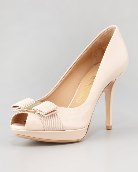 Talia Patent Bow Pump, New Bisque